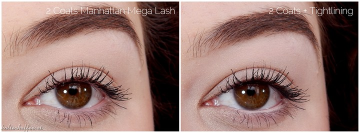 Manhattan Mega Lash Mascara applied