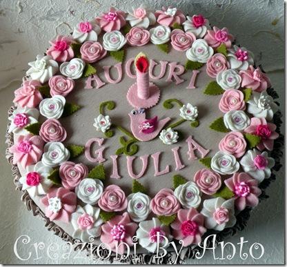 IL GUFO SCRAPPOSO: Torta di Compleanno….feltrosa