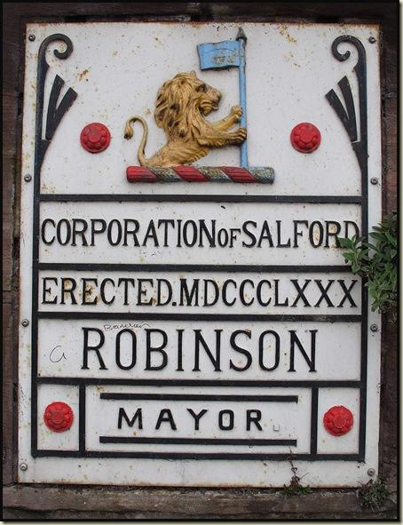 Mayoral plaque on Frederick Road Bridge