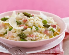 Asparagus Risotto with Pancetta and Truffle Oil
