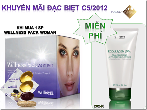 Khuyến mãi đặc biệt Wellness Pack Woman