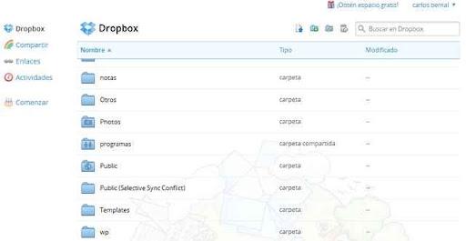 Dropbox nueva interfaz