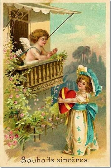 Vintage French Valentine Postcard