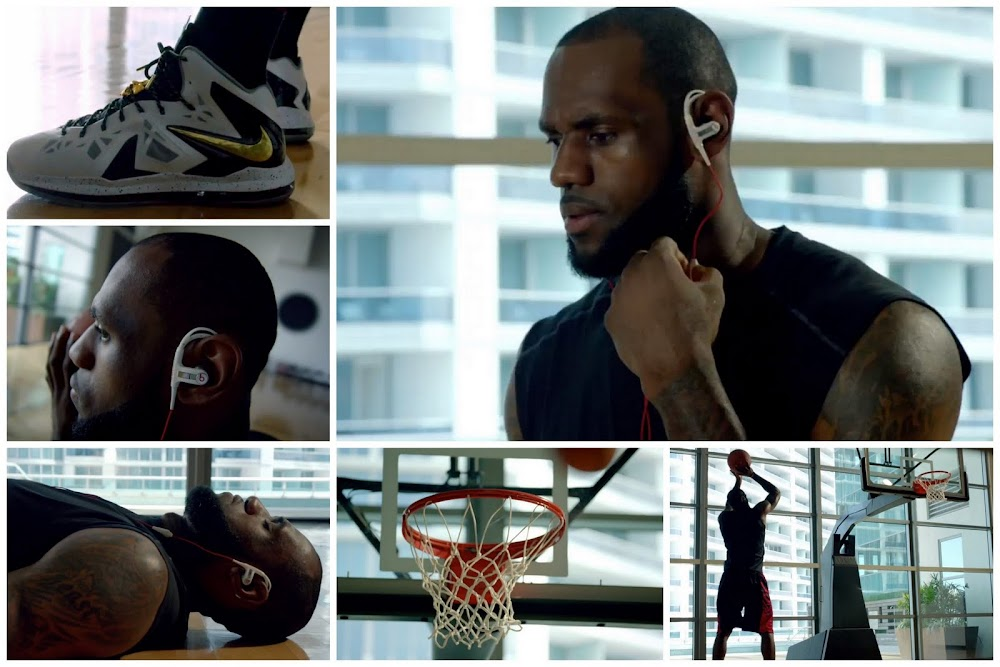 4c1f993653fa LBJ Sports LeBron X Elite+ in Beats By Dre Powerbeats Commercial ...