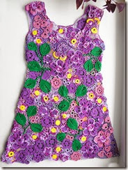 irish crochet violet dress