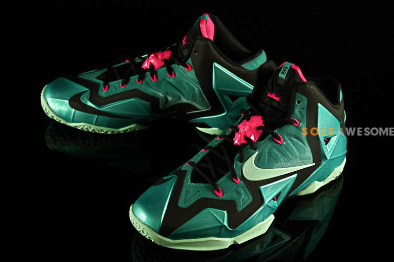 buy online 424fe bc2c5 Nike LeBron XI 8220South Beach8221 Release Date 616175330 ...