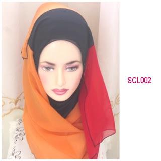shawl chiffon 3 layer oren
