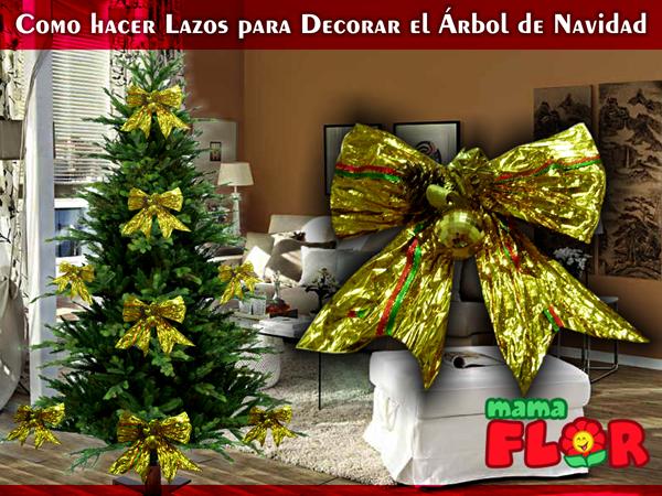 Lazos Elegantes para Decorar el Árbol de Navidad
