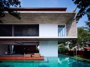 Arquitectura contemporanea fachada de hormigon