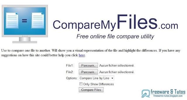 CompareMyFiles : une application en ligne pour chercher les différences entre 2 textes