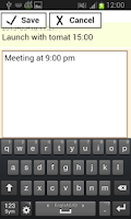 Screenshot of notes with password