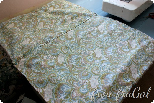 Pillow Back Pinned to Pillow Front