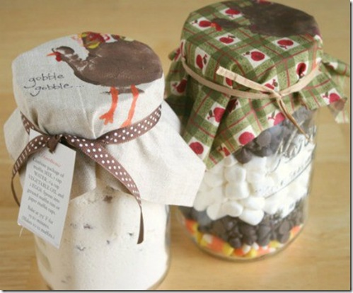 handprint turkey jar toppers