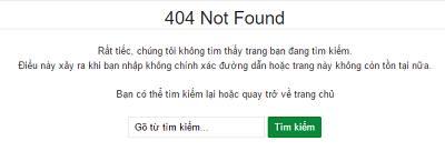 Trang lỗi 404 tùy chỉnh