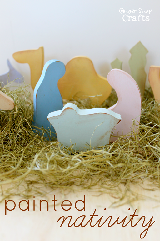 Painted Nativity with DecoArt #Christmas #gingersnapcrafts #ad