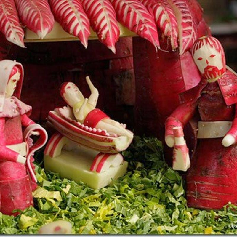 Esculpir rábanos, tradición navideña en Oaxaca