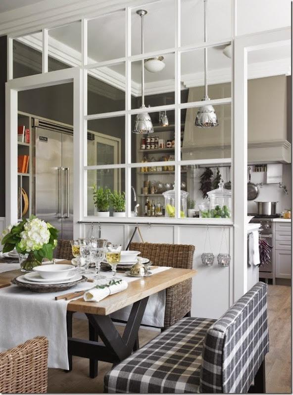 cucina - pranzo - lavanderia - vetrata - greige - country chic (4)
