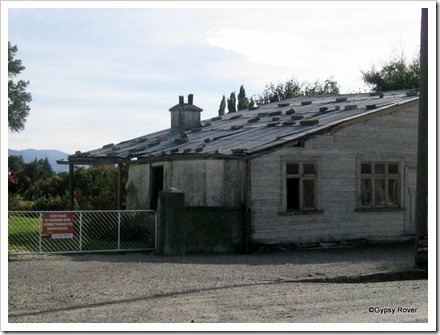 Ophir, Central Otago. An old gold mining town. The very delapidated Drapery shop.
