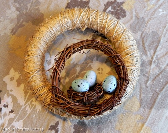 glue on robins eggs