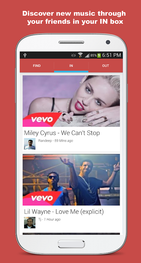 Share or Send Music: ShareBeat - screenshot