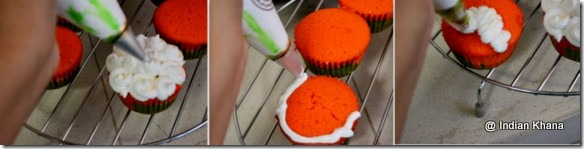 easy cupcake icing technique with step wise pics