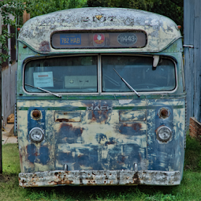 Tour time by Beckie Caughman - Transportation Other ( old, bus, transportation, antique, decay,  )