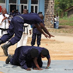 Démonstration par la police à Kisangani, décembre 2010.