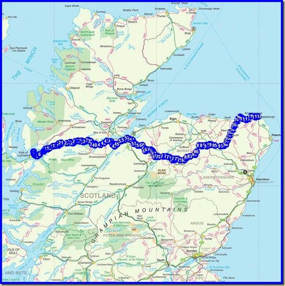TGO Challenge route 2013