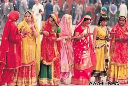 Mierda indias con saris