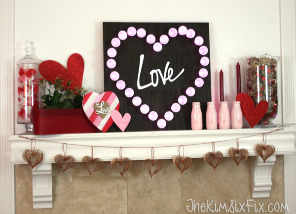 Love heart mantel