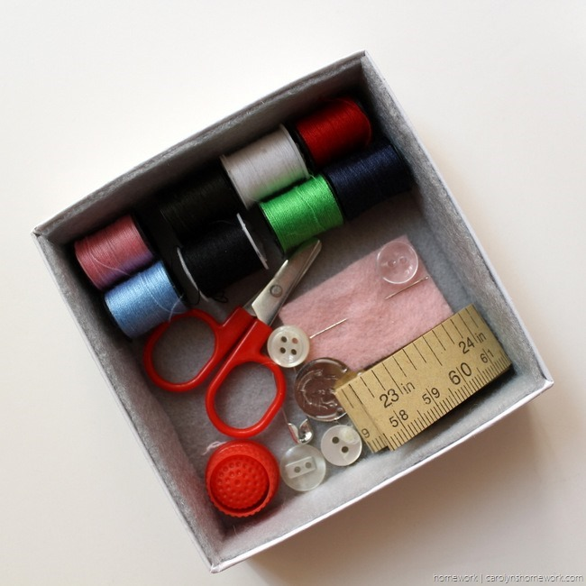 DIY Sewing Kit Gift Box - homework