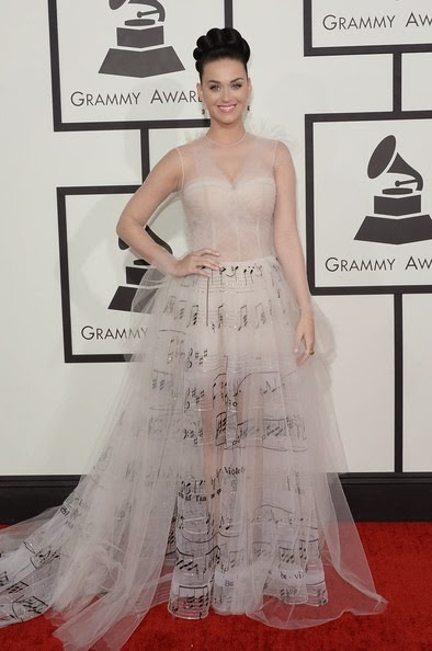 Katy Perry attends the 56th GRAMMY Awards