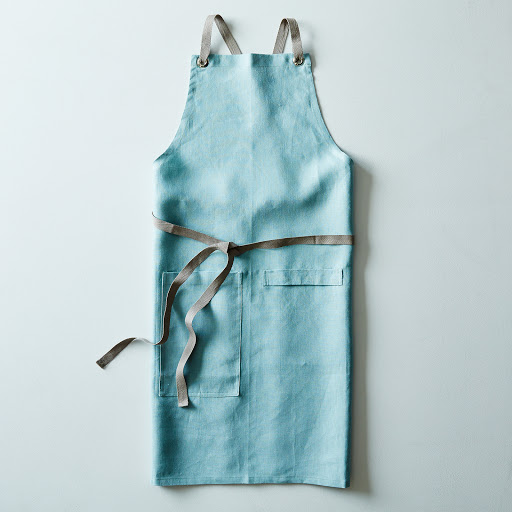 Ocean Blue Cross-Back Kitchen Apron