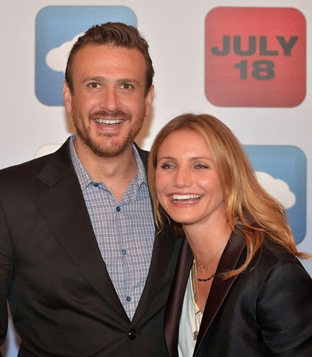 BEVERLY HILLS, CA - JULY 10:  Jason Segel and Cameron Diaz attend the junket photo call for Columbia Pictures' comedy 'SEX TAPE' at Four Seasons Hotel.