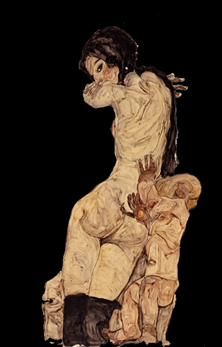 woman-with-homunculus-by-egon-schiele-1910