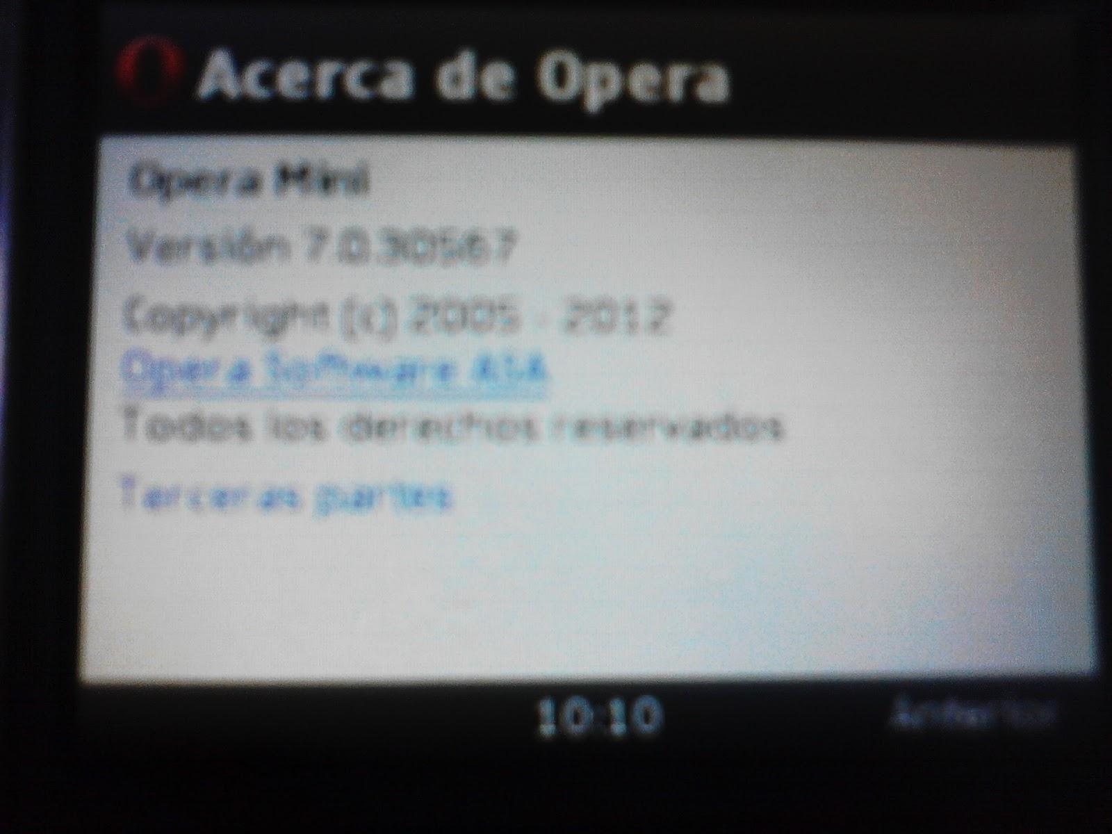 опера мини сис 240: