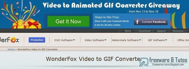 Offre promotionnelle : WonderFox Video to GIF Converter gratuit !