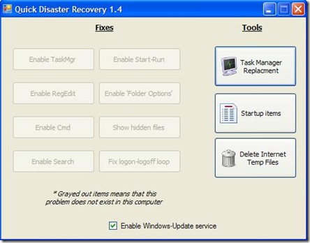 Quick Disaster Recovery