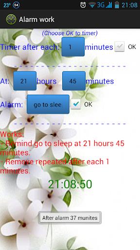 Alarm work