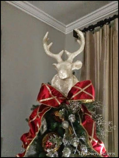 The Uptown Acorn Tis The Season Deer Head Tree Topper Christmas 2014