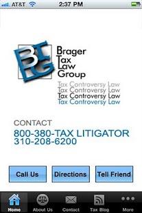 Brager Tax Law Group- screenshot thumbnail