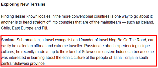 My thoughts on the travel industry in Economic Times