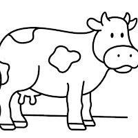 Desenhos Vaca Para Colorir Colorir E Aprender