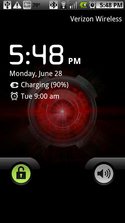 Droid X Eye Live Wallpaper- screenshot