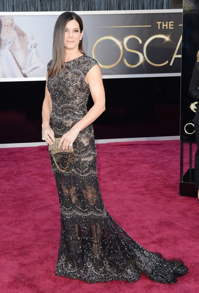Sandra Bullock arrives at the Oscars