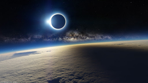 Earth Eclipse Galaxies Nabulae Outer Space