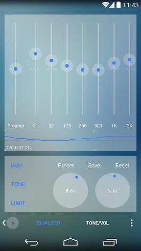 Skin for Poweramp Now TRSPRNT  screenshots 3