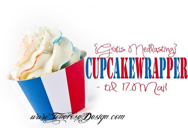 gratis cupcake wrapper til 17 mai