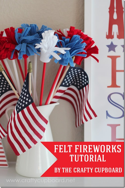 Felt fireworks Tutorial by The Crafty Cupboard