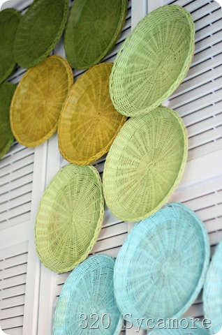 paper plate holders as art